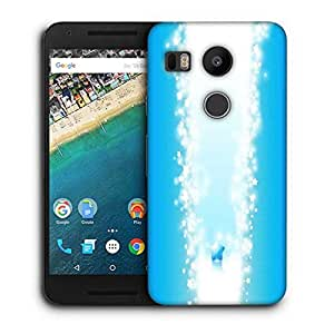 Snoogg Sparkling Star Printed Protective Phone Back Case Cover For LG Google Nexus 5X