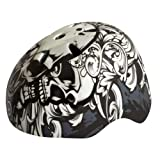Glow-in-the-Dark Skate Helmet Black (Size 54-60cm)