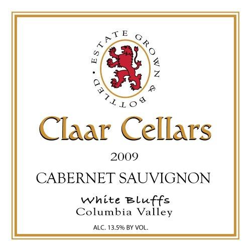 Claar Cellars 2009  Cabernet Sauvignon Washington Wine Estate 750 mL