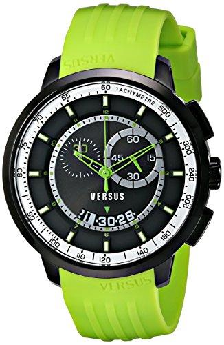 Versus - SGV09 0014 - Montre Homme - Quartz - Chronographe - Bracelet Polyuréthane Vert