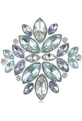 "Napier ""Giftable"" Silver-Tone Blue Multi-Floral Pin"