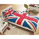Bettüberzug Union Jack Vintage, Single bed duvet set, Bettwäsche, Kopfkissen, Bettdecke, shabby chic England Großbritannien