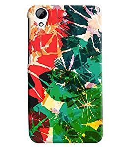 Blue Throat Paper Painting Pattern Hard Plastic Printed Back Cover/Case For HTC Desire 728