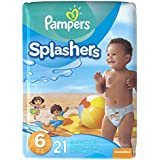Pampers Splashers Disposable Swim Pants Size 6, 21 Count