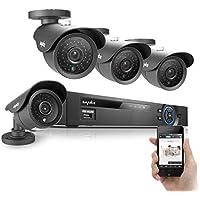 Sannce 960H QR Code Scan Easy Setup 4 Camera Video Surveillance Camera System