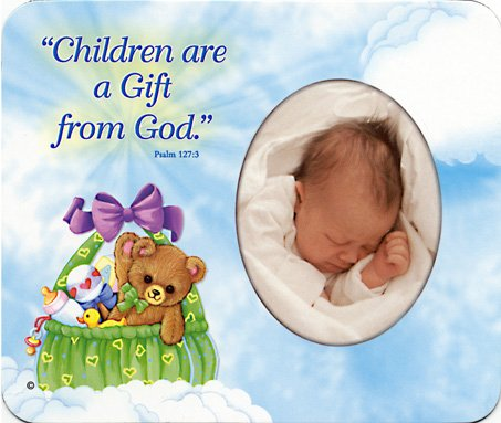 Children are a Gift from God (basket) - Photo Magnet Frame