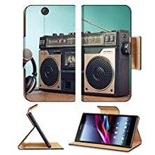 buy Luxlady Premium Sony Xperia Z Ultra C6806 C6833 Flip Case Old Retro Radio Cassette Player Headphones Microphone On Table Image 24381924 Pu Leather Card Holder Carrying