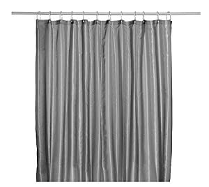 Brand Ikea Suoge Lun Shower Curtain Black Gray White Blue