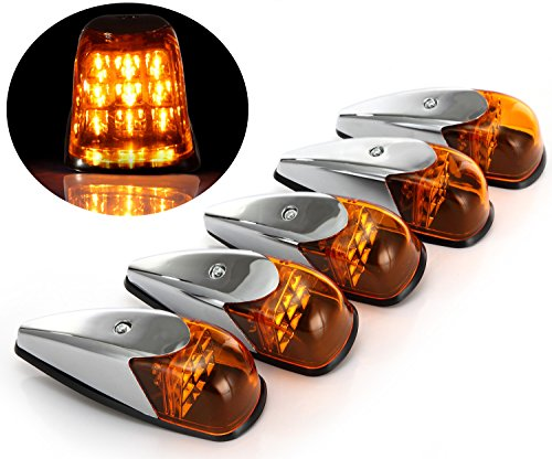 5 Pack 9 Led Amber Universal Roof Clearance Lights Cab Marker Lamp for 12V Vehicles (Cab Top Light Mount compare prices)