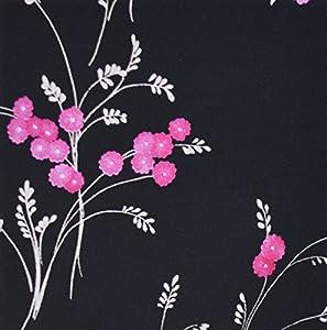 3dRose LLC Pink Flowers on Black - Mouse Pad (mp_23464_1)