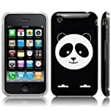 iPhone 3GS / 3G 'Paul the Panda' Part of the Too Cute Range (Designed by Creative Eleven) TPU Gel Skin / Case / Cover - Black Part Of The Qubits Accessories Rangeby Qubits
