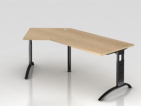 Angolo supporto tavolo C 210x 113cm, 135°, rovere/silbe RCHW.