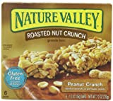 Nature Valley Roasted Nut Crunch Granola Bars, Peanut Crunch, 6-Count Boxes (Pack of 6)