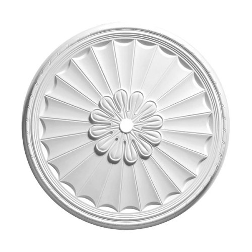 Focal Point 36 Inch Diameter Ceiling Medallion Hampton Primed White Polyurethane 81336