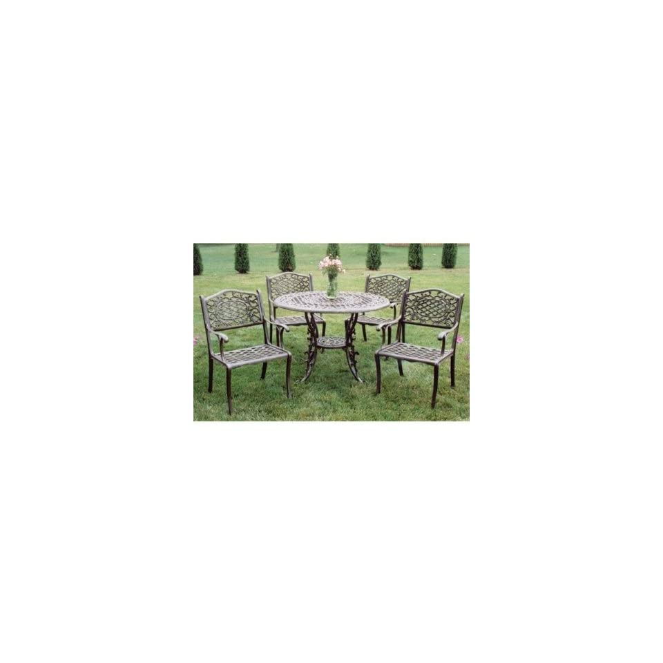 Oakland Living Mississippi 5 Piece Dining Set with 48 inch Table 111621095AB