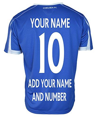 Chelsea FC Soccer Jersey Adult Training Add Any Name and Number - Custom Name and Number - Eden Hazard 10 (BLUE T1H11, L) (Cristiano Ronaldo Number And Name compare prices)