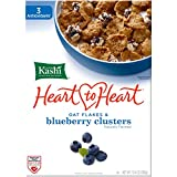 Kashi Heart 2 Heart Clusters Cereal, Oat Flakes and Blueberry, 13.4 Ounce (Pack of 10)