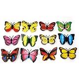 12Pcs Cute Charming Butterfly 3D Fridge Magnets Art Room Wall Decor Crafts DIY
