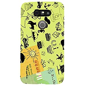 iSweven Luxurious Printed high Quality Live the day Design Back case cover for LG G5 lgg5_1252