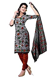 Riddhi Dresses Women's Cotton Unstitched Dress Material (Riddhi Dresses 76_Multi Coloured_Free Size)