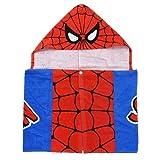 スパイダーマン[ポンチョ]フード付きスポーツタオル/なりきり マーベル