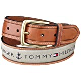 Cincho Tommy Hilfiger Men's Ribbon Inlay para hombre, talla 34, color Khaki