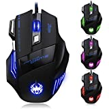Zelotes [2015 T80 New Version] Dland Zelotes Professional Led Optical 5500 Dpi 7 Button Usb Wired Gaming Mouse Mice For Gamer Adjustable Dpi Switch Function 5500dpi/3200dpi/2400 Dpi /1600 Dpi /1000 Dpi For Pro Game Notebook Pc Laptop Computer T-80 New Upd