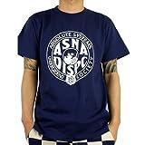 (アスナディスペック)ASNADISPEC tシャツ メンズ 大きいサイズ ティシャツ 半袖Tシャツ ミリタリー調 ガスマスク 柄 ブランド ロゴ プリント asst5163 M NDIGO