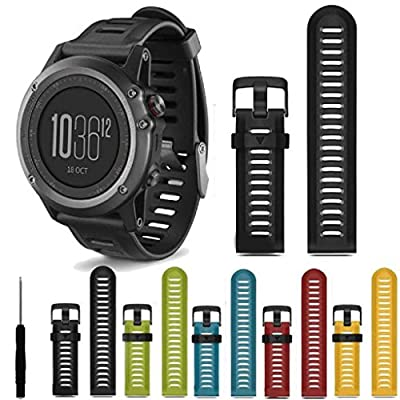 Anywa Luxury Nylon Strap 5 Ring Watch Replacement Band For Garmin Fenix 3