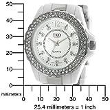 TKO ORLOGI Women's TK544-WT Cerami-Steel Swarovski Crystal White Acrylic Watch