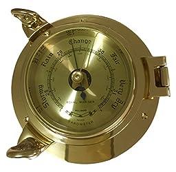 Moore Clocks Brass Barometer Porthole