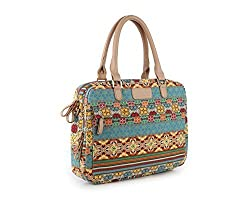 YuHan Bohemian Laptop Shoulder Bag Canvas Fabric Laptop Carrying Case/ Shoulder Messenger Bag / Briefcase for Macbook, Acer, Dell, HP, Sony, ASUS, Samsung, Lenovo, Notebook Bohemia 15-15.6 Inch