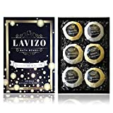 Premium Bath Bomb Gift Set by Lavizo - 6 Giant 6.1oz Fizzies - Lush, Moisturizing & Luxurious - Organic & Natural Ingredients - X-Large Essential Oil Spa Balls - Perfect Mother's Day Gift Idea