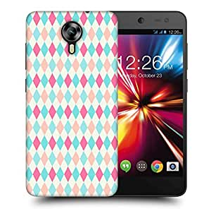 Snoogg Multicolor Blocks Printed Protective Phone Back Case Cover For Micromax Canvas Nitro 4G