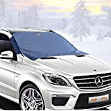 Frost Guard - Windshield Snow Cover - Auto Ice Wiper Protector - Non Scratch Magnetic - Sturdy - Heavy Duty Material - 50 x 62 Inches - Keep your Vehicle Exterior Clean and Freeze Free - Car-Van - SUV