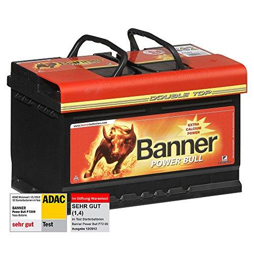 banner power bull autobatterie 12v 72ah 660a p7209 test adac stiftung war banner p7209 banner. Black Bedroom Furniture Sets. Home Design Ideas