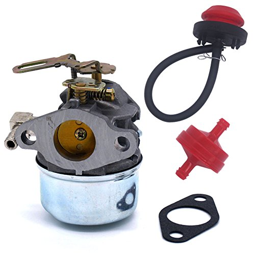 FitBest New Tecumseh 640084B HSK40 HSK50 HS50 LH195SP Snowblower Carburetor with Primer Bulb & Fuel Line Filter (Carburetor Primer compare prices)
