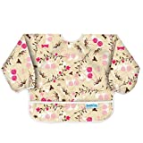 Bumkins Waterproof Sleeved Bib, Flutter Floral ~ Bumkins