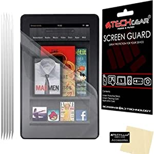 TECHGEAR® [PACK OF 5] Amazon Kindle Fire 7.0 inch (8GB WIFI) CLEAR LCD Screen Protectors - NOT FOR ANY KINDLE FIRE HD OR HDX TABLETS