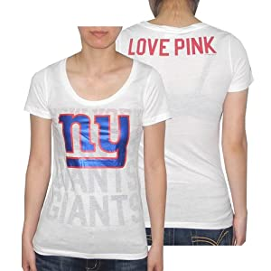 Womens NFL York Giants T Shirt by Pink Victoria's Secret - White by Pink Victoria's Secret