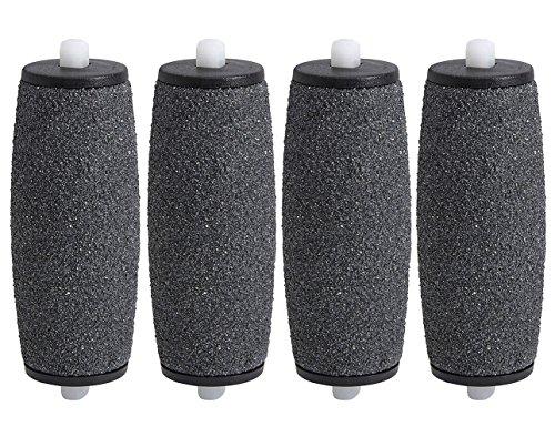 Rulli a Grana Grossa Di Ricambio Compatibili con Scholl Velvet Soft (pacco da 4 pezzi)
