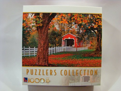 Puzzlers Collection 1000 Piece Jigsaw Puzzle: Covered Bridge, Oregon - 1