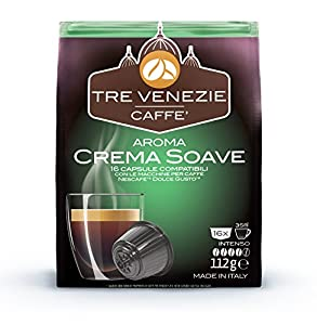 Purchase 64 Tre Venezie Italian Coffee, Dolce Gusto Compatible Capsules/Pods, Mixed Box 4 x 16 capsules per case. £0.23p per capsule by Tre Venezie S.r.l.