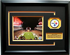 NFL Pittsburgh Steelers Heinz Field Framed Landscape Photo with Team Patch and... by CGI Sports Memories