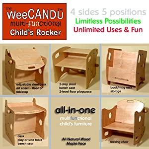 WeeCANDU 5 in 1 - Multi-Use Child's Furniture