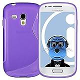 ITALKonline Samsung i8190 Galaxy S3 Mini Purple TPU S Line Wave Hybrid Gel Skin Case Protective Jelly Cover