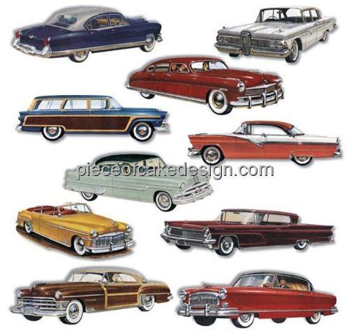 1/4 ~ 1950s Classic Cars Birthday ~ Edible Image Cake/Cupcake Topper!!! (Classic Car Birthday compare prices)