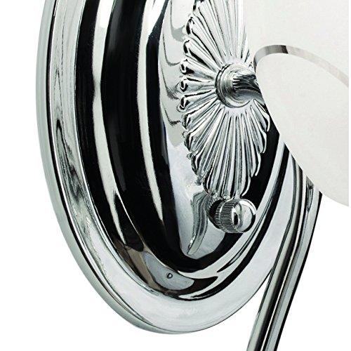 Applique style moderne, armature en métal coloré en nickel, plafonnier en verre 1 ampoule E14 1x60W 230V
