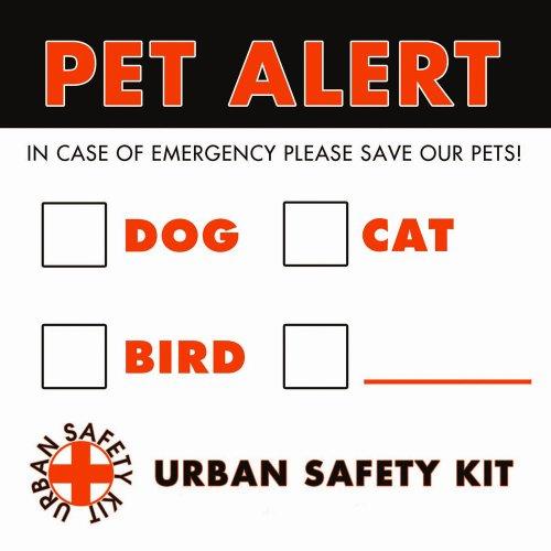 Image of Pet Emergency Alert, 2 Stickers (Anti-fade) (B0057SE3GC)