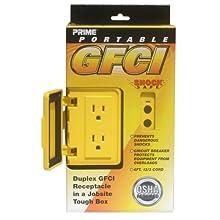 Prime Wire and Cable GF 200806 6-Foot 12/3 Portable GFCI Duplex Junction Box